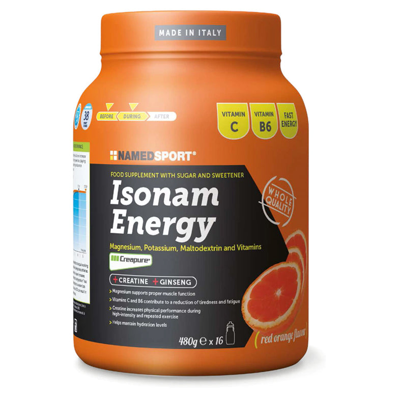 Named SPORT ISONAM ENERGY ORANGE 480G