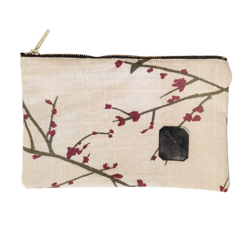 Cherry Blossom zipped pouch