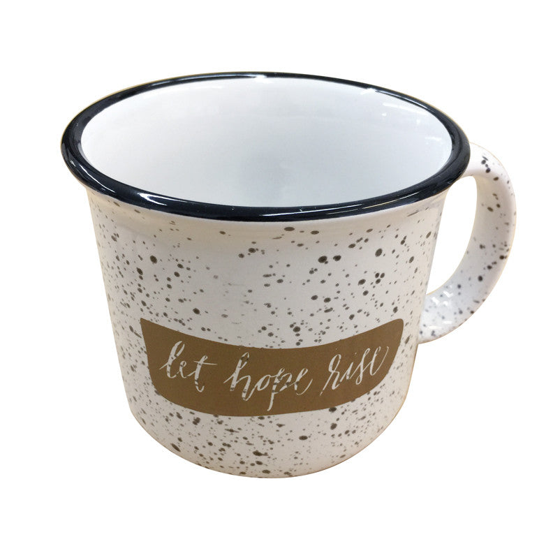"""Let hope rise"" Ceramic mug"