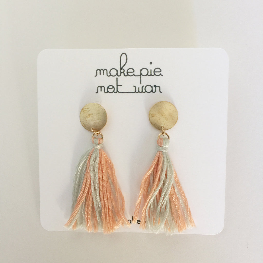 Dot tassel earrings