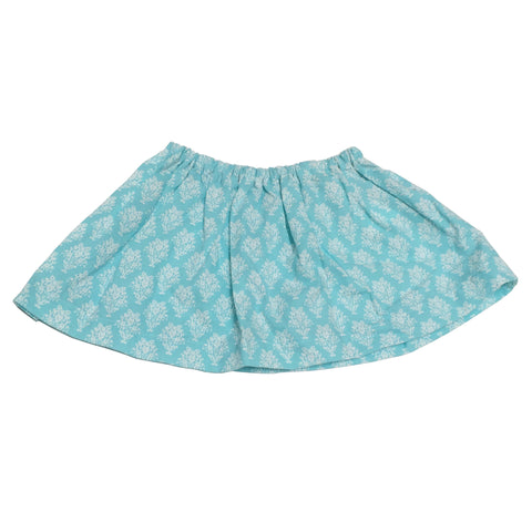 Turquoise Damask Skirt (2 yrs)