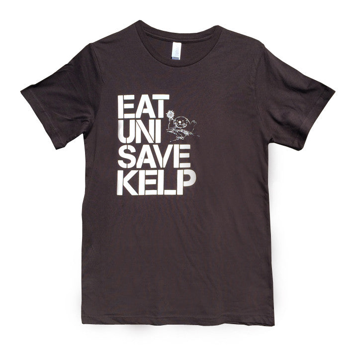 """Eat Uni Save Kelp"" Unisex T-Shirt (Brown)"
