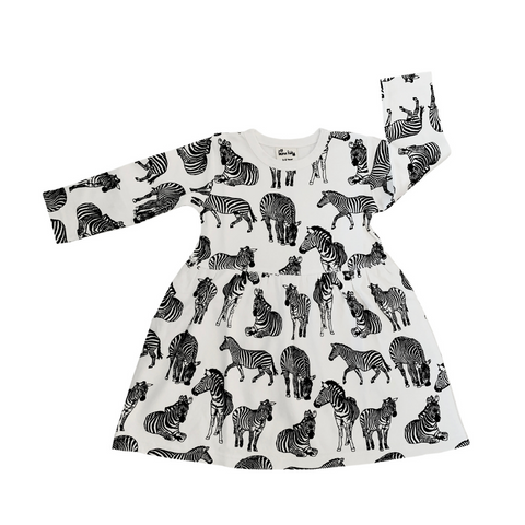 Organic kids dress - Zebra