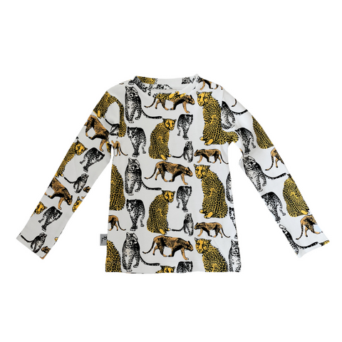 Organic long sleeve t-shirt - Leopard