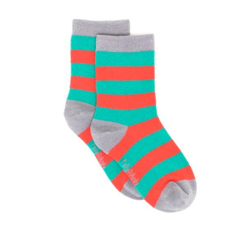 Bamboo Socks - Green & Red