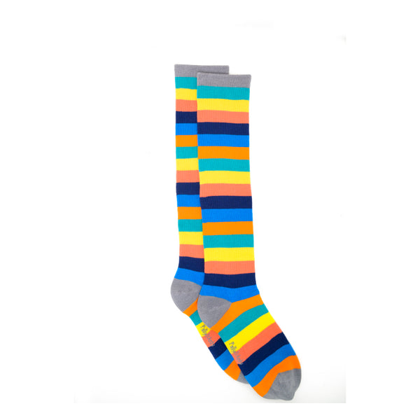 Bamboo Knee High Socks - Rainbow