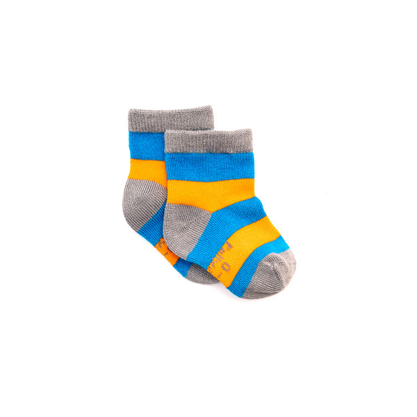 Bamboo Socks - Blue & Orange