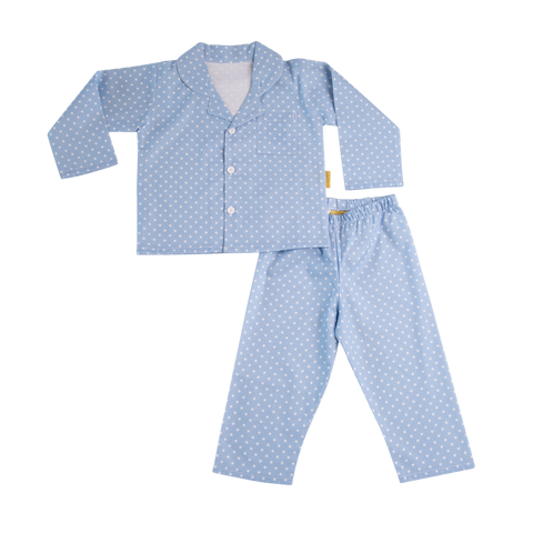 Organic Cotton PJs - Blue