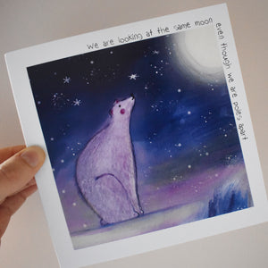 We are looking at the same moon - polar bear