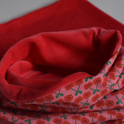 Organic loop scarf - cherries