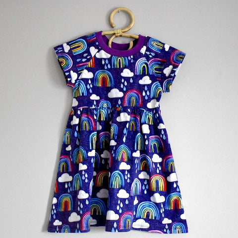 Rainbow short sleeve dress
