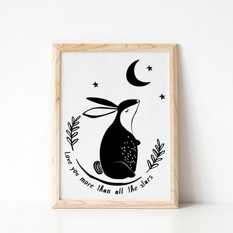 Love You Little Rabbit print
