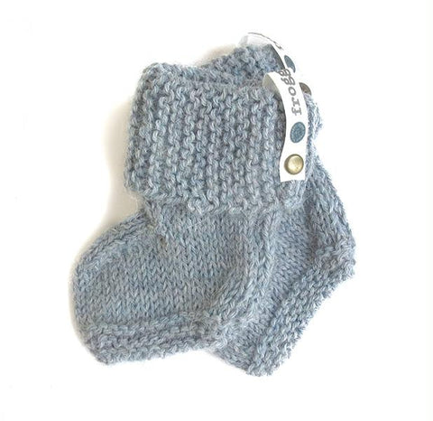 Baby booties - Hazy Summer Sky Blue