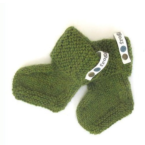 Baby Booties - Mossy Green