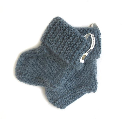 Baby Booties - Petrol Blue