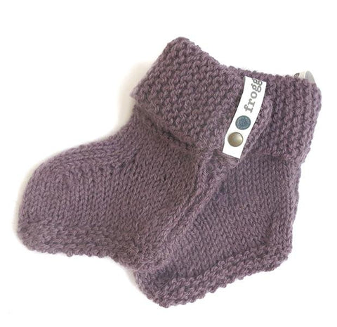 Baby Booties - Purple Heather