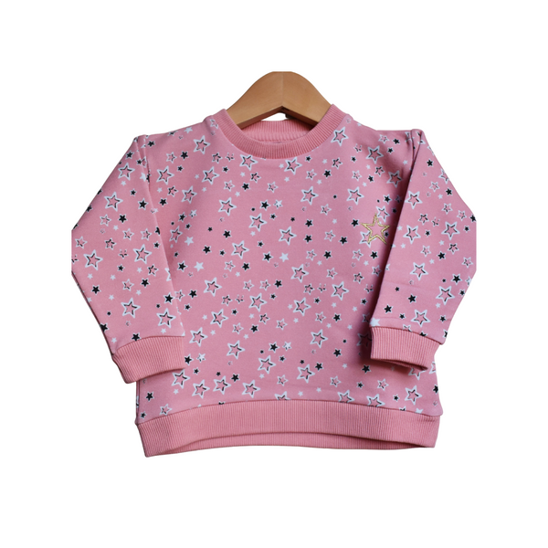 Organic Superstar Sweater - peachy pink