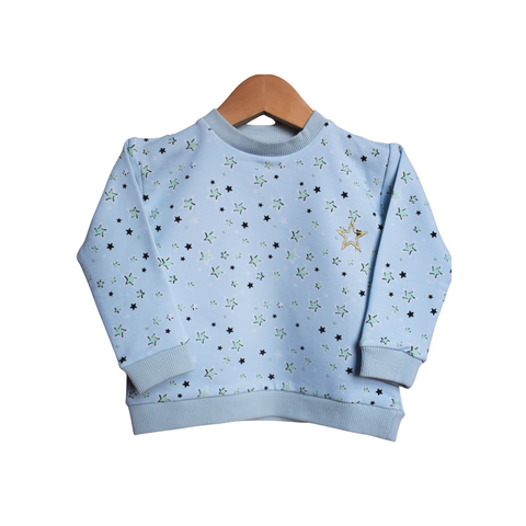 Organic Superstar Sweater - blue