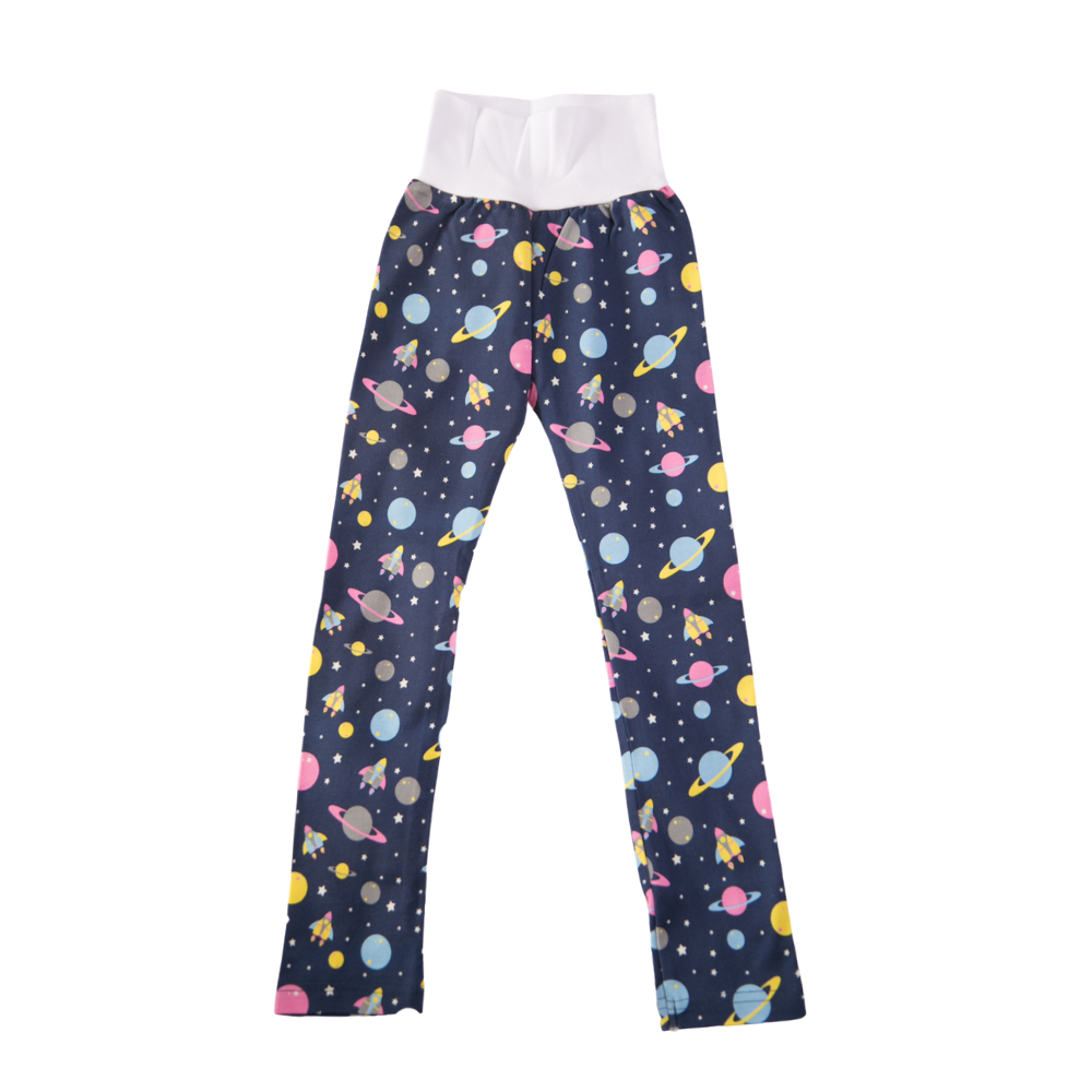 Organic cotton leggings - outer space