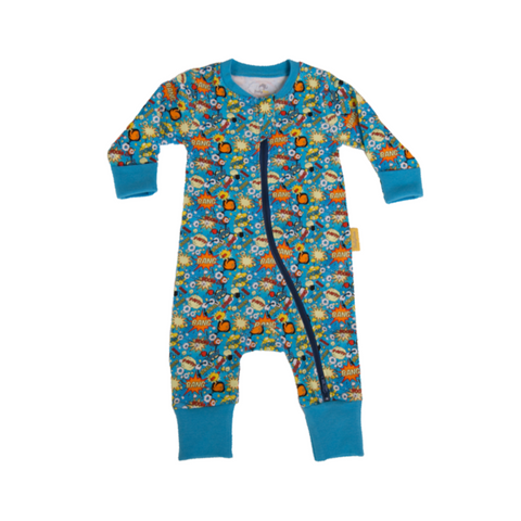 Superheroes organic cotton babygro
