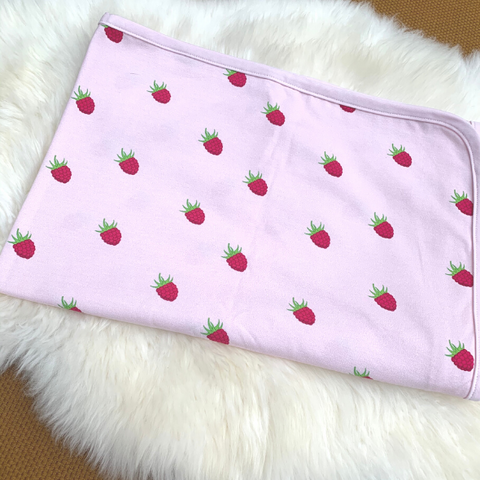 Organic cotton blanket - raspberry