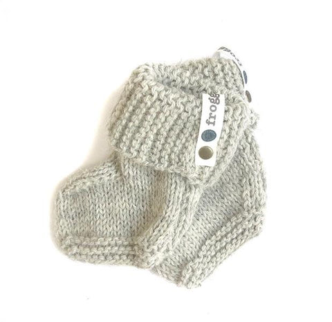 Baby booties - Baby Elephant Grey