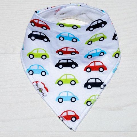 Bandana bib - retro cars