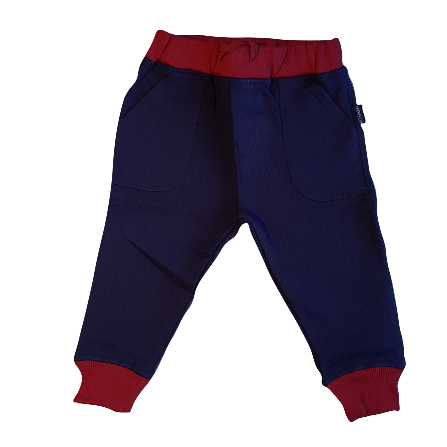 Organic Track Bottoms - Red Trim