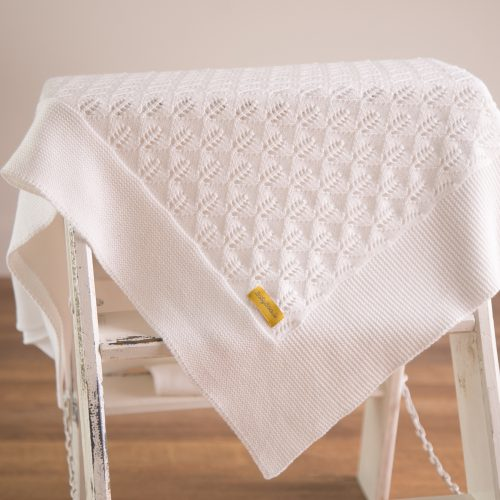 Organic cotton blanket - pure white