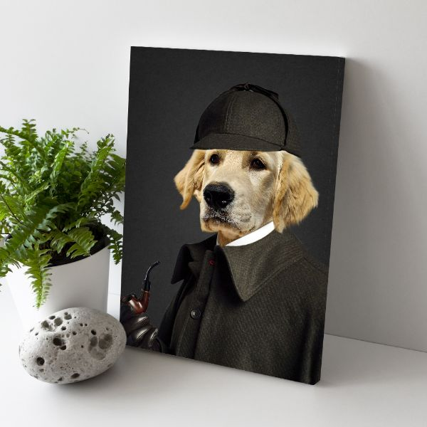 The Sherlock - Custom Pet Canvas