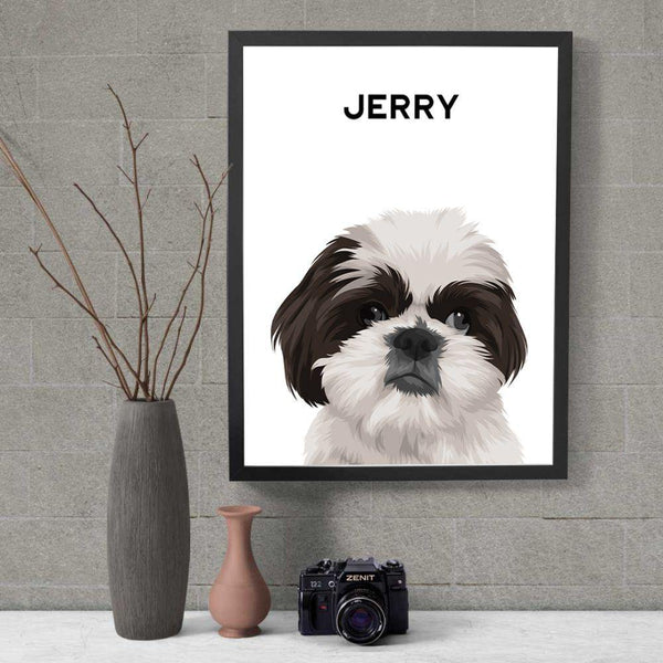 Minimalistic Art - Custom Pet Portrait - The Zulu Pet Co