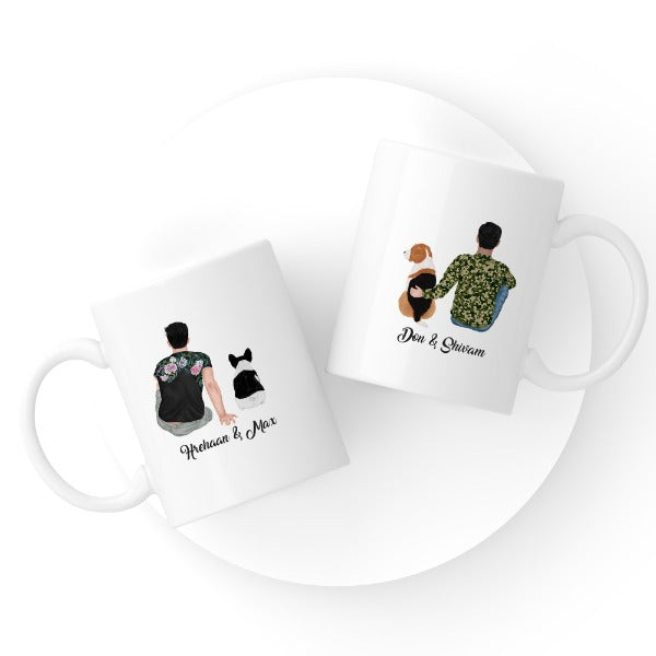 Customized Human & Pet Avatar Mug (1 Hooman + 1 Pet)
