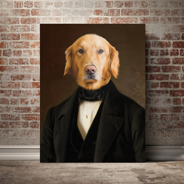 The Aristocrat- Custom Pet Canvas - The Zulu Pet Co