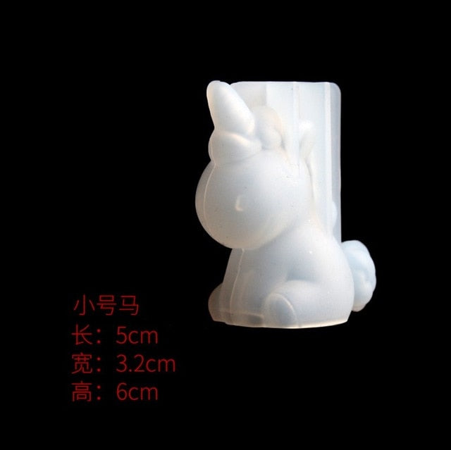 Transparent Unicorn Silicone Mold (Candle Making) - Average1