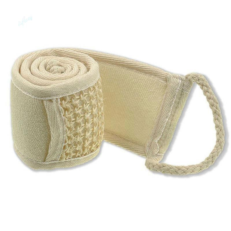 Soft Exfoliating Scrubber Natural Loofah Back Strap - Average1