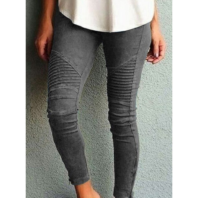 Women's Elastic Skinny Pencil Pants