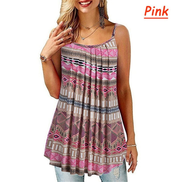 Women's Sleeveless Loose T-Shirt