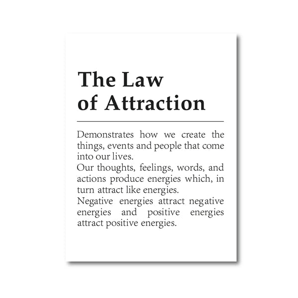 The Law of Attraction Motivational Canvas Printing (No Frame)