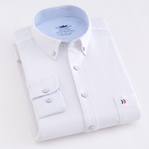 Men's Casual Oxford Style Short Sleeve Shirt