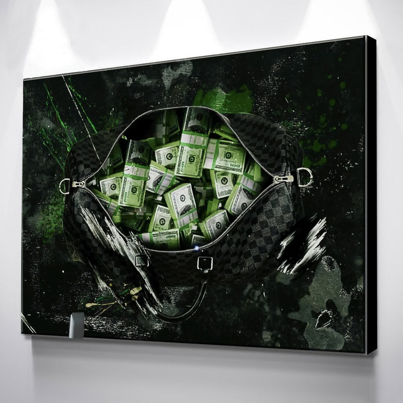 Money in the Bag Wall Canvas (No Frame)