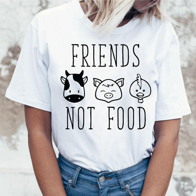 Women's Vegan Graphic T-Shirt