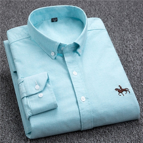Men's Comfortable Cotton Casual Long Sleeve Shirt