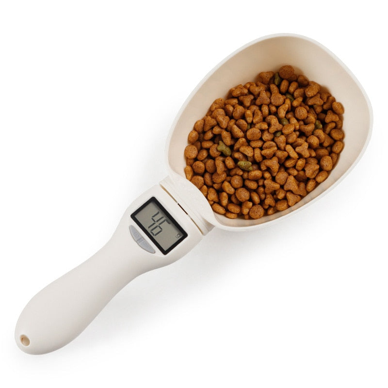 2-in-1 Pet Food Scale and Feed Scoop