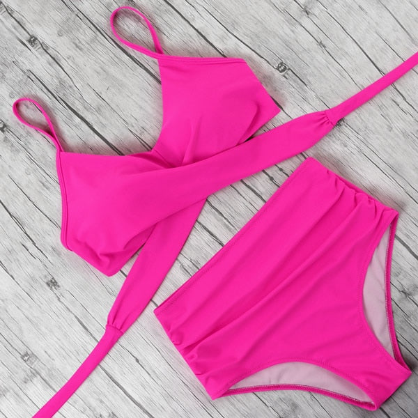 Women's High Waist Bikini Set