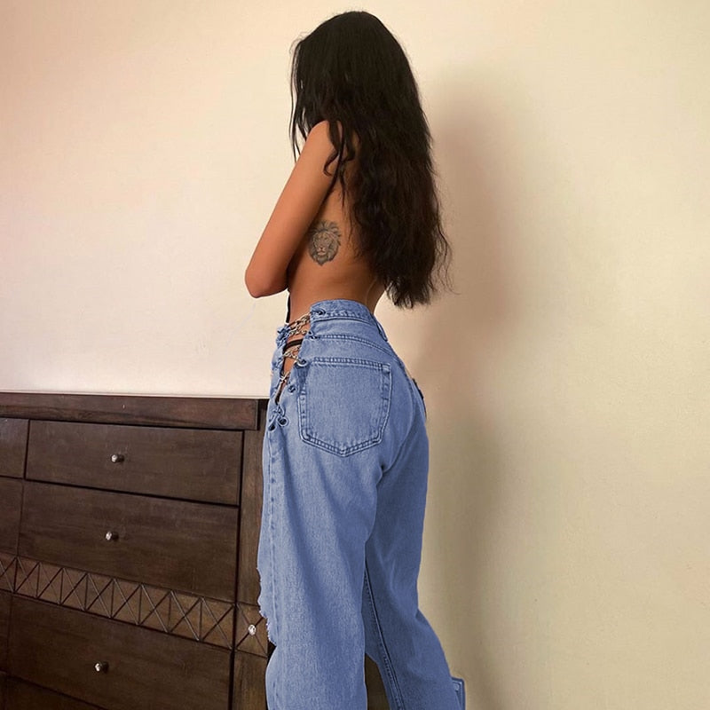 Women's Hollow Out European Fashion Jeans