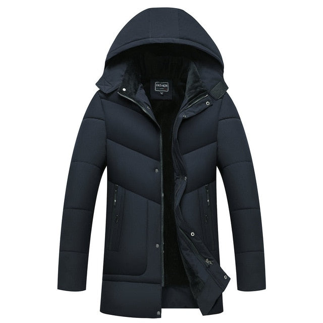 Parka Men's Thick Waterproof Overcoat