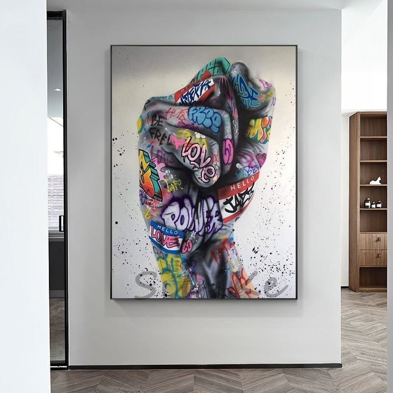 Graffiti Fist Canvas Posters (No Frame)