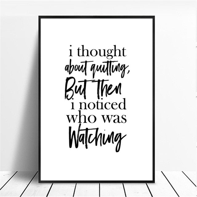 Minimalist Style Inspiration Quotes Canvas Printings (No Frame)