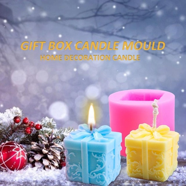 Silicone Christmas Gift Candle Mold