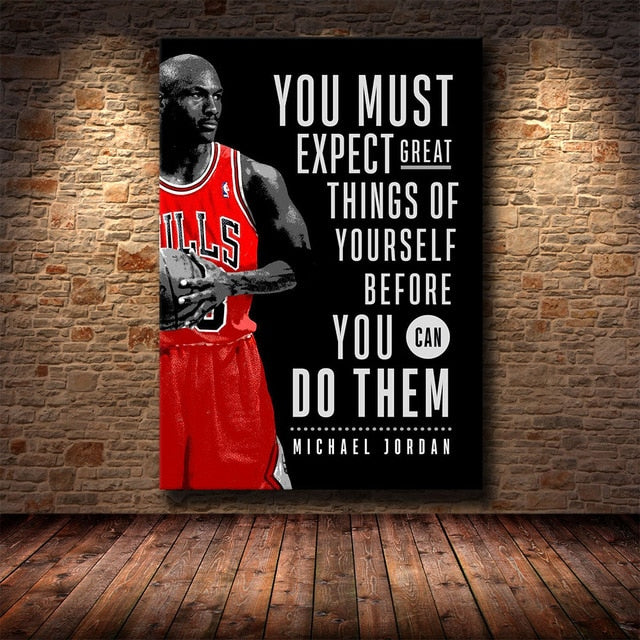 Motivational Quote Canvas Printings (No Frame)